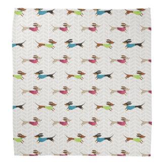 Delightful Dachshund Pattern Bandana