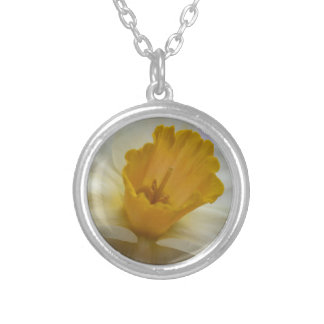 Delightful Daffodil Silver Plated Necklace
