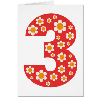Delightful Daisies 3rd Birthday Card