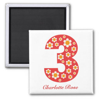 Delightful Daisies 3rd Birthday Magnet