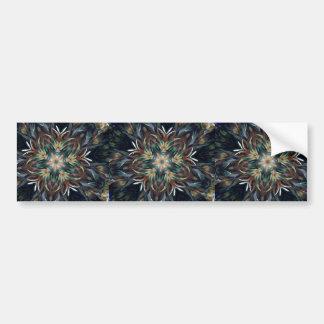 Delightful Delicate Feather Mandala Bumper Sticker