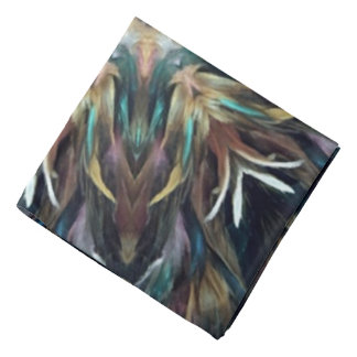 Delightful Delicate Feather Mandala Kaleidoscope Bandana