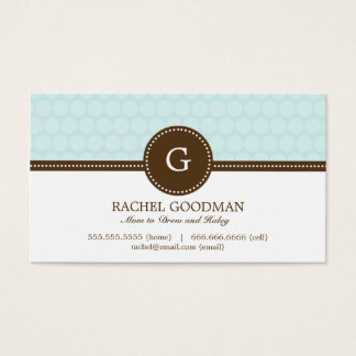 Delightful Dots Mommy Card / Personal Calling Card