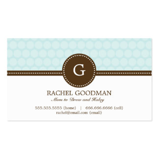Delightful Dots Mommy Card / Personal Calling Card Pack Of Standard Business Cards