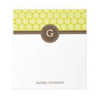 Delightful Dots Personalized Notepad
