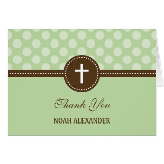 Delightful Dots Thank You Card - Green