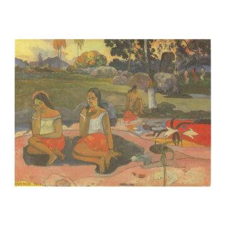 Delightful Drowsiness Gauguin Impressionism Art Wood Print