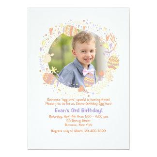 Delightful Easter Wreath Photo Invitation