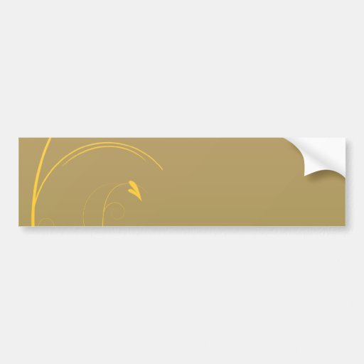Delightful golden yellow swirl Christmas gift Bumper Stickers