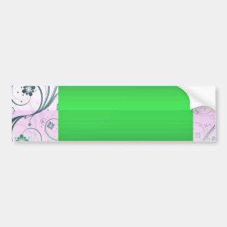 Delightful Greenish Swirls special gift Bumper Sticker