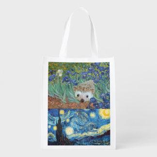 Delightful Hedgehog Shopping Bag Grocery Bag