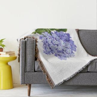 Delightful Hydrangea Throw Blanket