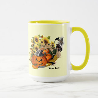 Delightful Just Skunks Fall Harvest Coffee Mug