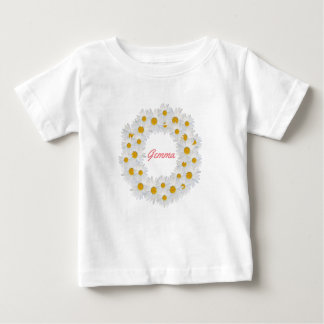 Delightful Personalised Daisy ring Baby T-Shirt