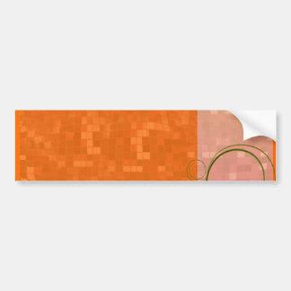 Delightful reddish texture special gift bumper sticker