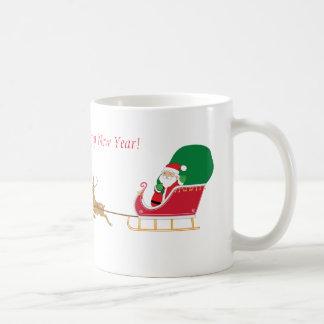 Delightful Santa's Sleigh and Reindeer Mug