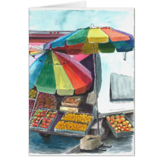 Delightful street vendor card
