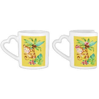 Delightful Tropical Monkey Business Coffee Mug Set