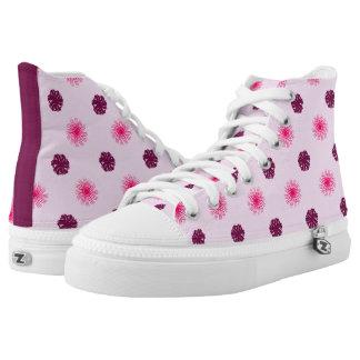 Delightfully Pink Swirls Hi Tops