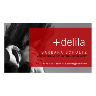 Delila s Face red Business Cards