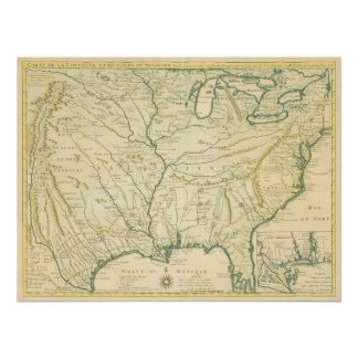Delisle. Carte de la Louisiane.... Paris, 1718 Poster