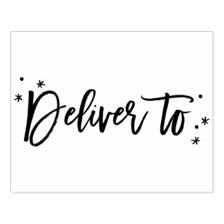 Deliver to rubber stamp