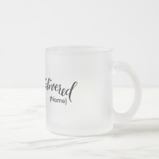 Delivered Custom 10 Oz Frosted Glass Coffee Mug