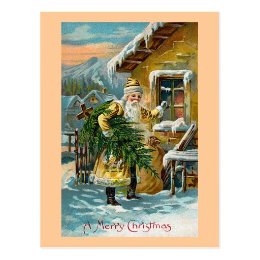 """Delivering Christmas Gifts"" Postcards"