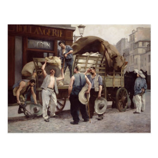 Delivering Flour, 1885 Postcard