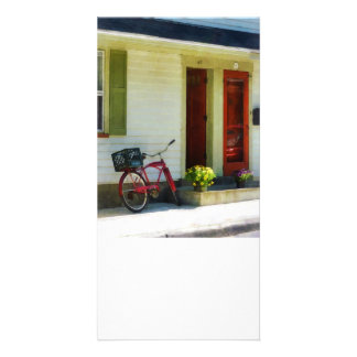 Delivery Bicycle by Two Red Doors Customized Photo Card