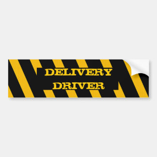 Delivery Driver bumper sticker