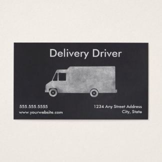 Delivery Driver Business Card Template