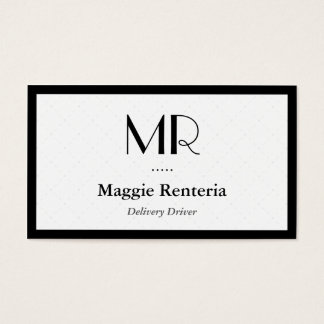 Delivery Driver - Clean Stylish Monogram Business Card