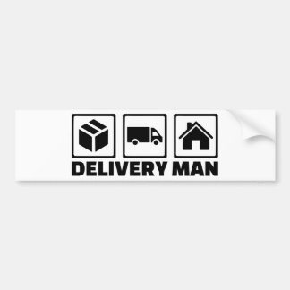Delivery man bumper sticker