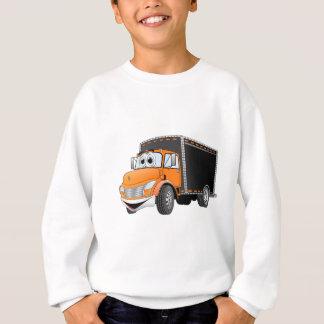 Delivery Truck Orange Black Box Cartoon Sweatshirt