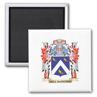 Dell-Agostino Coat of Arms - Family Crest Square Magnet