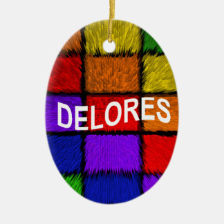 DELORES CERAMIC ORNAMENT