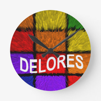 DELORES ROUND CLOCK