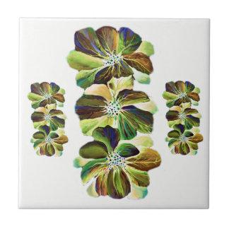 Delphinium  flowers painting tiles