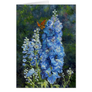 """""""Delphiniums"""" BLank Note Card"""