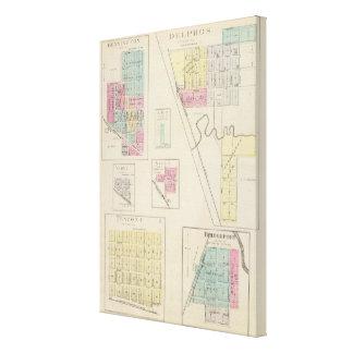 Delphos, Bennington, Ada, Verdi, Niles, Kansas Gallery Wrap Canvas