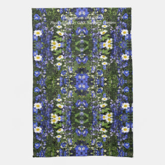 Delpininiums and Daisies  kitchen towel 16x244