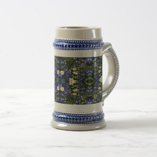 Delpininiums and Daisies stein