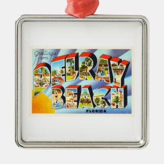 Delray Beach Florida FL Vintage Travel Souvenir Metal Ornament