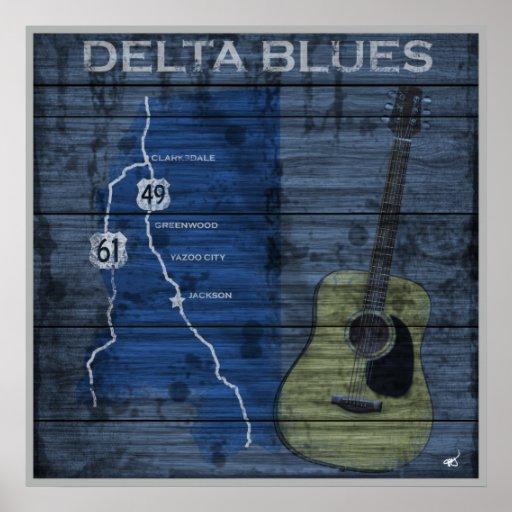 Delta Blues Grunge Blues Highway Poster