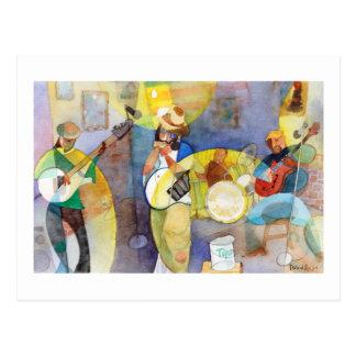 Delta Blues Music Design Postcard