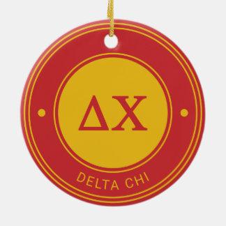 Delta Chi | Badge Ceramic Ornament