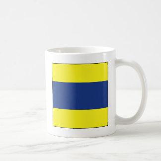 Delta (D) Signal Flag Mug