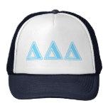 Delta Delta Delta Blue Letters Trucker Hat