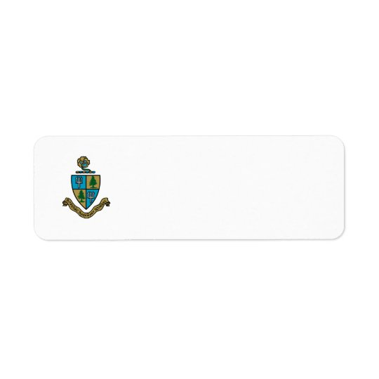 Delta Delta Delta Crest Colour Return Address Label